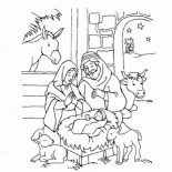 Jesus Loves Me, Jesus Is Born And Jesus Love Me Coloring Page: Jesus is Born and Jesus Love Me Coloring Page