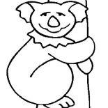 Koala Bear, Koala Bear Drawing Coloring Page: Koala Bear Drawing Coloring Page