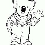 Koala Bear, Koala Bear In Koala Brothers 3 Coloring Page: Koala Bear in Koala Brothers 3 Coloring Page
