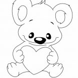 Koala Bear, Koala Bear With Love Coloring Page: Koala Bear with Love Coloring Page