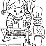 Elf, Little Elf Make Some Toys Coloring Page: Little Elf Make Some Toys Coloring Page