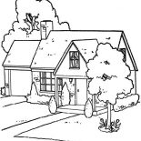 House, Lovely Houses Coloring Page: Lovely Houses Coloring Page