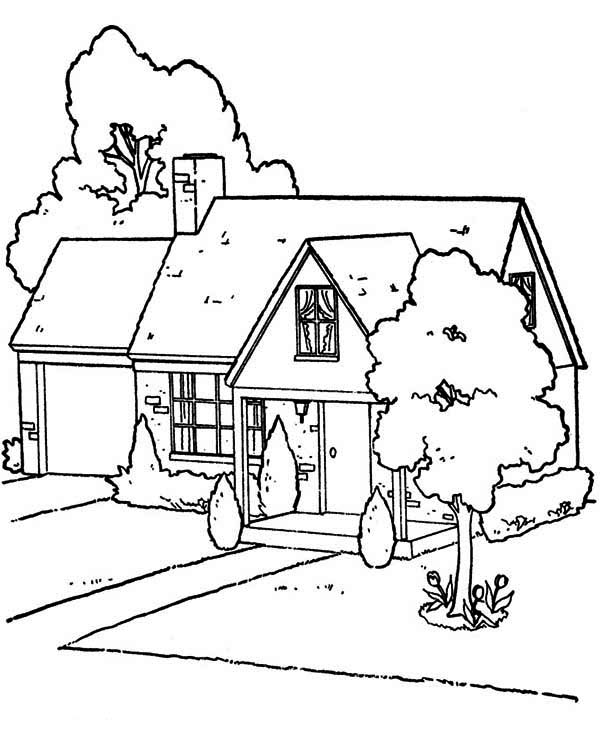 House, : Lovely Houses Coloring Page