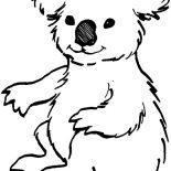 Koala Bear, Loving Koala Bear Coloring Page: Loving Koala Bear Coloring Page