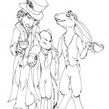 Mad Hatter, Mad Hatter And Door Mouse Coloring Page: Mad Hatter and Door Mouse Coloring Page