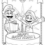 Happy Birthday, Happy Birthday Color Coloring Page: happy birthday color