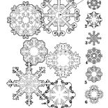 Snowflakes, Match Matching Snowflakes Coloring Page: Match Matching Snowflakes Coloring Page
