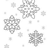 Snowflakes, Nice Snowflakes Coloring Page: Nice Snowflakes Coloring Page