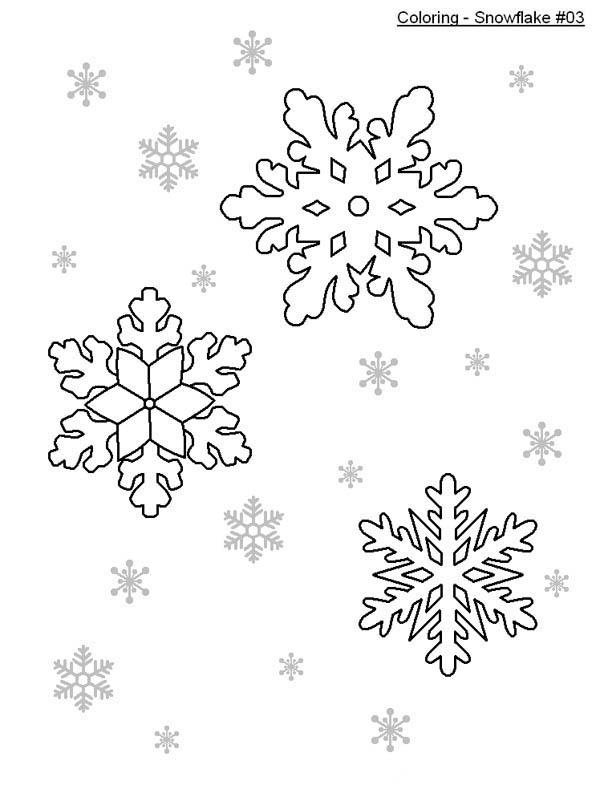 Snowflakes, : Nice Snowflakes Coloring Page