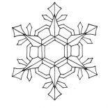 Snowflakes, Nifty Snowflakes Coloring Page: Nifty Snowflakes Coloring Page