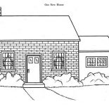 House, Our New House In Houses Coloring Page: Our New House in Houses Coloring Page