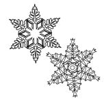 Snowflakes, Picture Of Snowflakes Coloring Page: Picture of Snowflakes Coloring Page