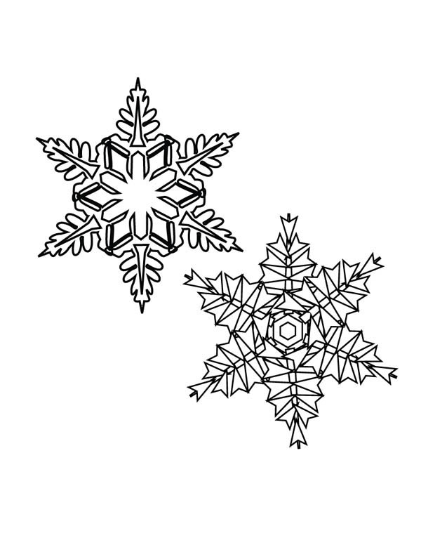 Snowflakes, : Picture of Snowflakes Coloring Page