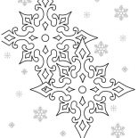 Snowflakes, Preety Snowflakes Coloring Page: Preety Snowflakes Coloring Page