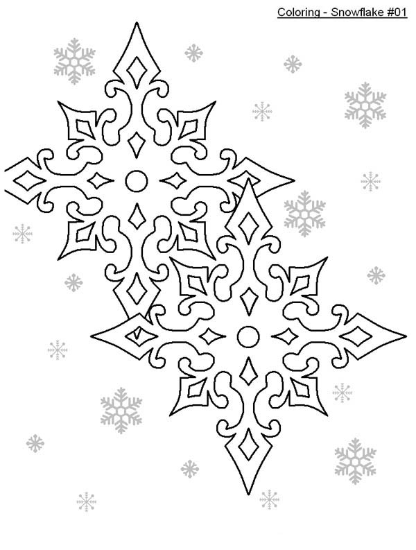 Snowflakes, : Preety Snowflakes Coloring Page