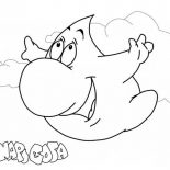 Raindrop, Raindrop Flying In The Sky Coloring Page: Raindrop Flying in the Sky Coloring Page