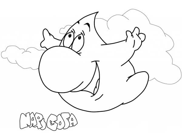 Raindrop, : Raindrop Flying in the Sky Coloring Page