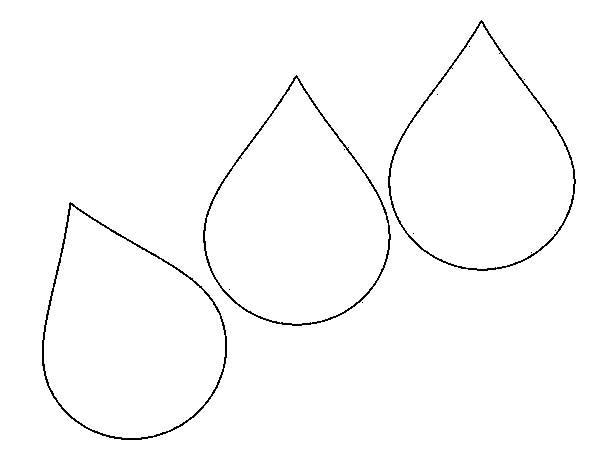 Raindrop, : Raindrop Image Coloring Page