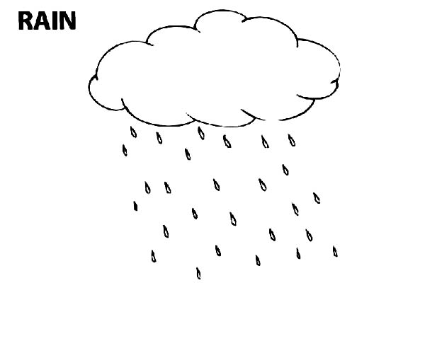 Raindrop, : Raindrop Slowly Blow by the Wind Coloring Page