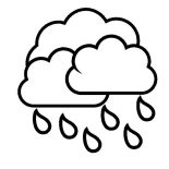 Raindrop, Raindrop From Cloud Coloring Page: Raindrop from Cloud Coloring Page