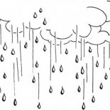 Raindrop, Raining Day Raindrop Falling From The Sky Coloring Page: Raining Day Raindrop Falling from the Sky Coloring Page