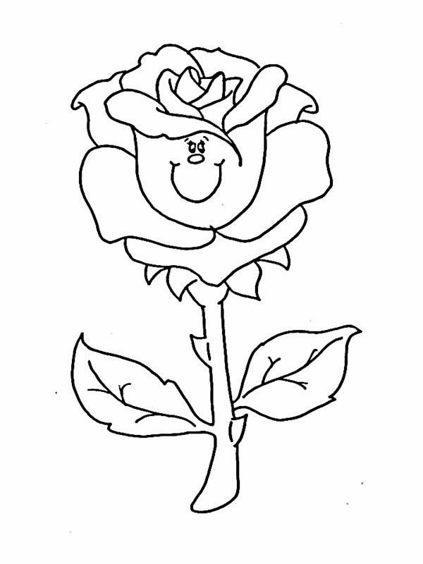 Flower Bouquet, : Rose Flower Bouquet Coloring Page