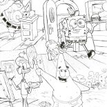 Krusty Krab, Routines In Krusty Krab Coloring Page: Routines in Krusty Krab Coloring Page