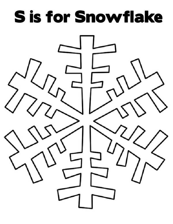 Snowflakes, : S is for Snowflakes Coloring Page
