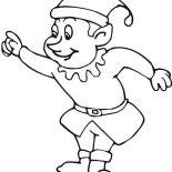 Elf, Santa's Christmas Elf Coloring Page: Santa's Christmas Elf Coloring Page