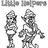 Elf, Santa's Little Helpers In Elf Coloring Page: Santa's Little Helpers in Elf Coloring Page