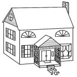 House, Simple Drawing Of Houses Coloring Page: Simple Drawing of Houses Coloring Page