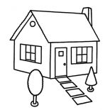 House, Sketch House In Houses Coloring Page: Sketch House in Houses Coloring Page