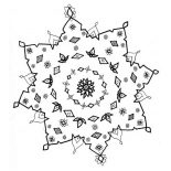 Snowflakes, Snowflakes Drawing Coloring Page: Snowflakes Drawing Coloring Page