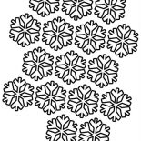 Snowflakes, Snowflakes Pattern Coloring Page: Snowflakes Pattern Coloring Page