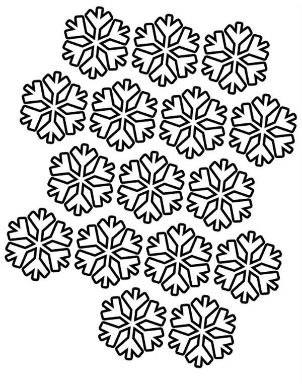Snowflakes, : Snowflakes Pattern Coloring Page