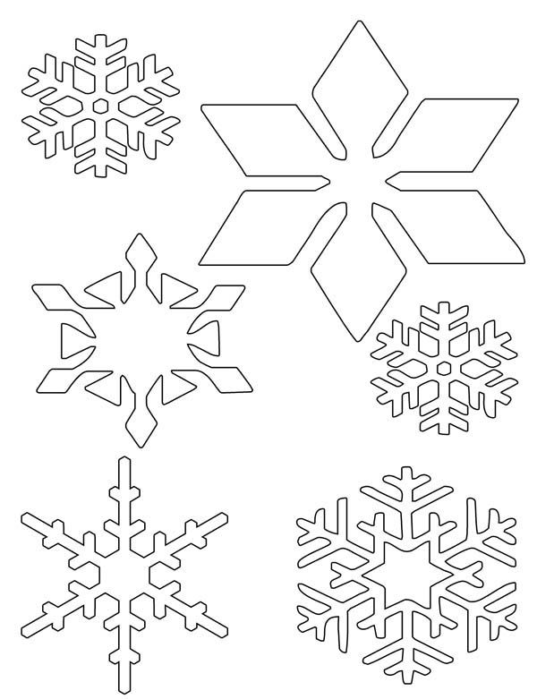 Snowflakes, : Snowflakes Wonder Coloring Page