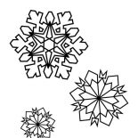 Snowflakes, Snowflakes On Winter Coloring Page: Snowflakes on Winter Coloring Page