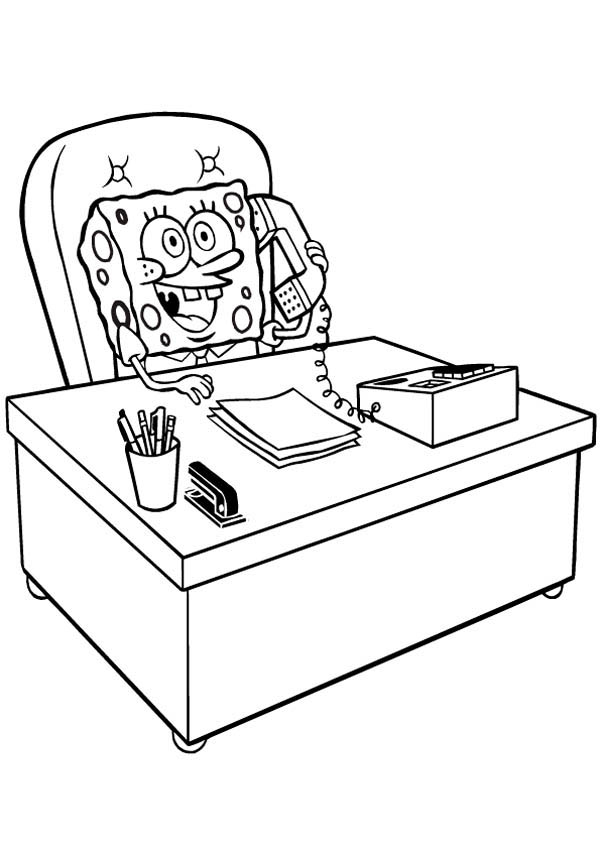 Krusty Krab, : SpongeBob Director of Krusty Krab Coloring Page
