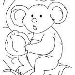 Koala Bear, Stunning Koala Bear Coloring Page: Stunning Koala Bear Coloring Page