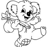 Koala Bear, The Adventure Of Koala Bear Coloring Page: The Adventure of Koala Bear Coloring Page