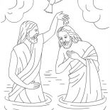Jesus Loves Me, The Baptism Of Jesus In Jesus Love Me Colorig Page Coloring Page: The Baptism of Jesus in Jesus Love Me Colorig Page