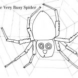 Spider, The Very Busy Spider Working On Spider Web Coloring Page: The Very Busy Spider Working on Spider Web Coloring Page