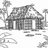 House, Traditional Houses Coloring Page: Traditional Houses Coloring Page