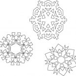 Snowflakes, Various Type Of Snowflakes Coloring Page: Various Type of Snowflakes Coloring Page