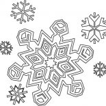 Snowflakes, Winter Season Snowflakes Coloring Page: Winter Season Snowflakes Coloring Page