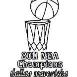 NBA, 2011 NBA Champions Dallas Mavericks Coloring Page: 2011 NBA Champions Dallas Mavericks Coloring Page