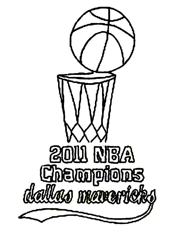 NBA, : 2011 NBA Champions Dallas Mavericks Coloring Page