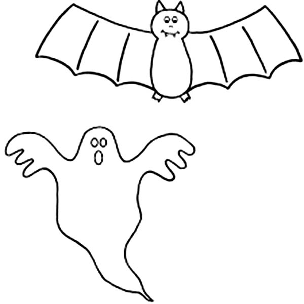 spooky bat coloring pages - photo#16