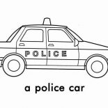 Police Car, A Police Car Picture Coloring Page: A Police Car Picture Coloring Page