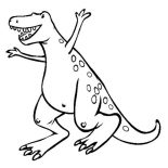 T-Rex, A Very Happy T Rex Coloring Page: A Very Happy T Rex Coloring Page